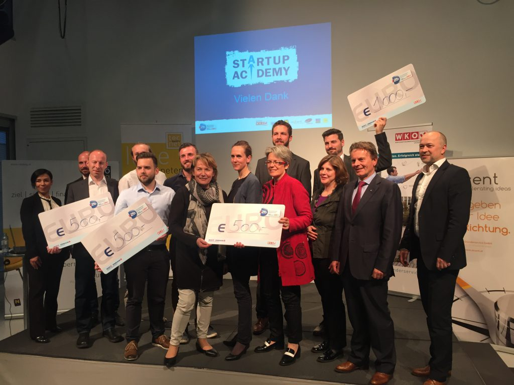 Preisträger Startup Academy 2016