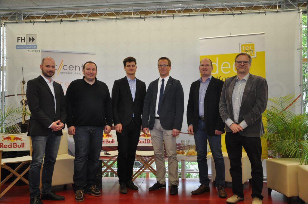 Jury: DI Andreas Prankl (farmdok), Mag. Jürgen Milde-Ennöckl (tecnet); Martin Schott (ECN), Gernot Hierner (Hypo NOE), Mag. Josef Farthofer (FH Wieselburg), Mag. Oliver Grabherr (accent) Foto: Bezirksblätter