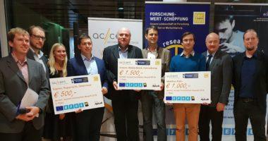 Forscherinnen und Forscher mit dem Innovation Award ausgezeichnet