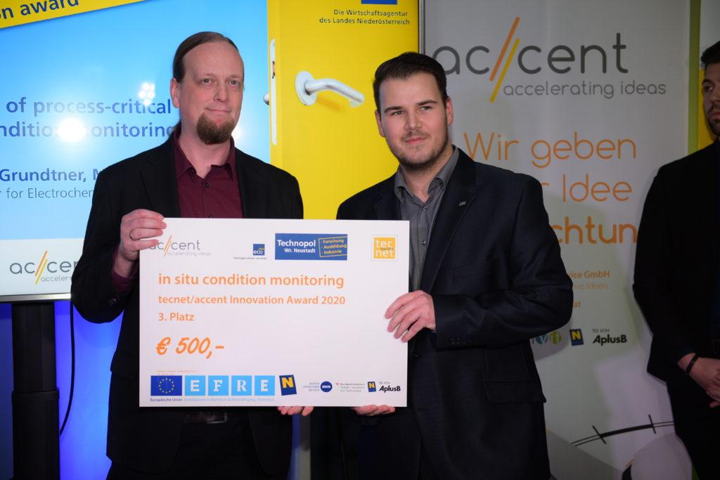 tecnet|accent Innovation Award 2020 am TFZ Wr. Neustadt vergeben